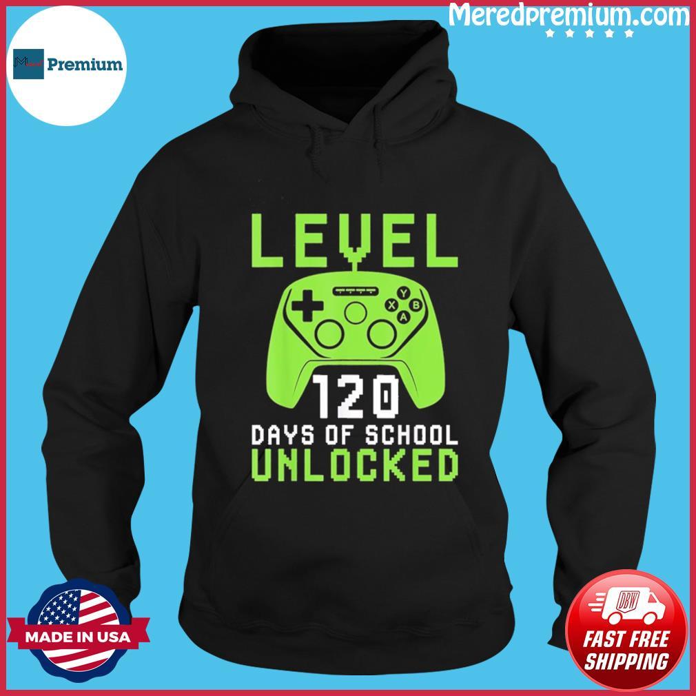 120 Days Of School Shirt For Kids Video Gamer T-Shirt Hoodie