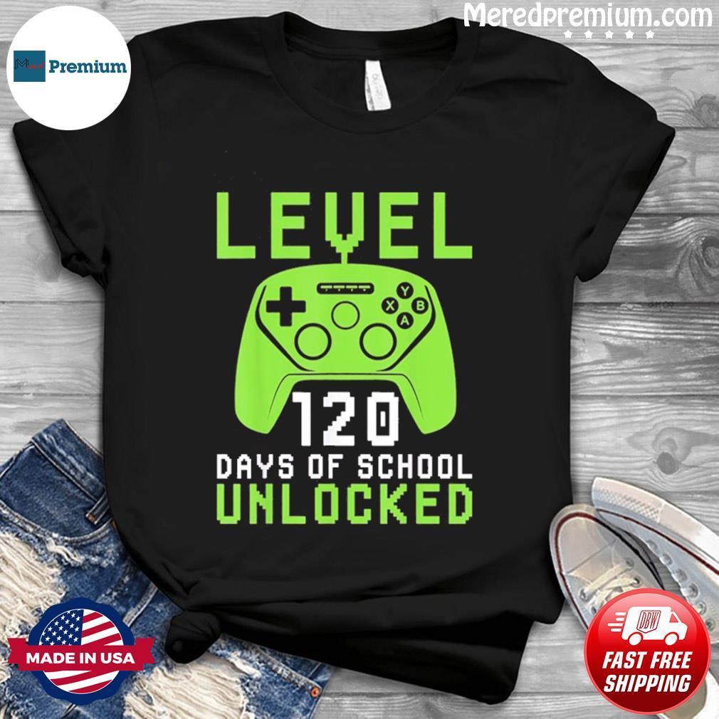 120 Days Of School Shirt For Kids Video Gamer T-Shirt