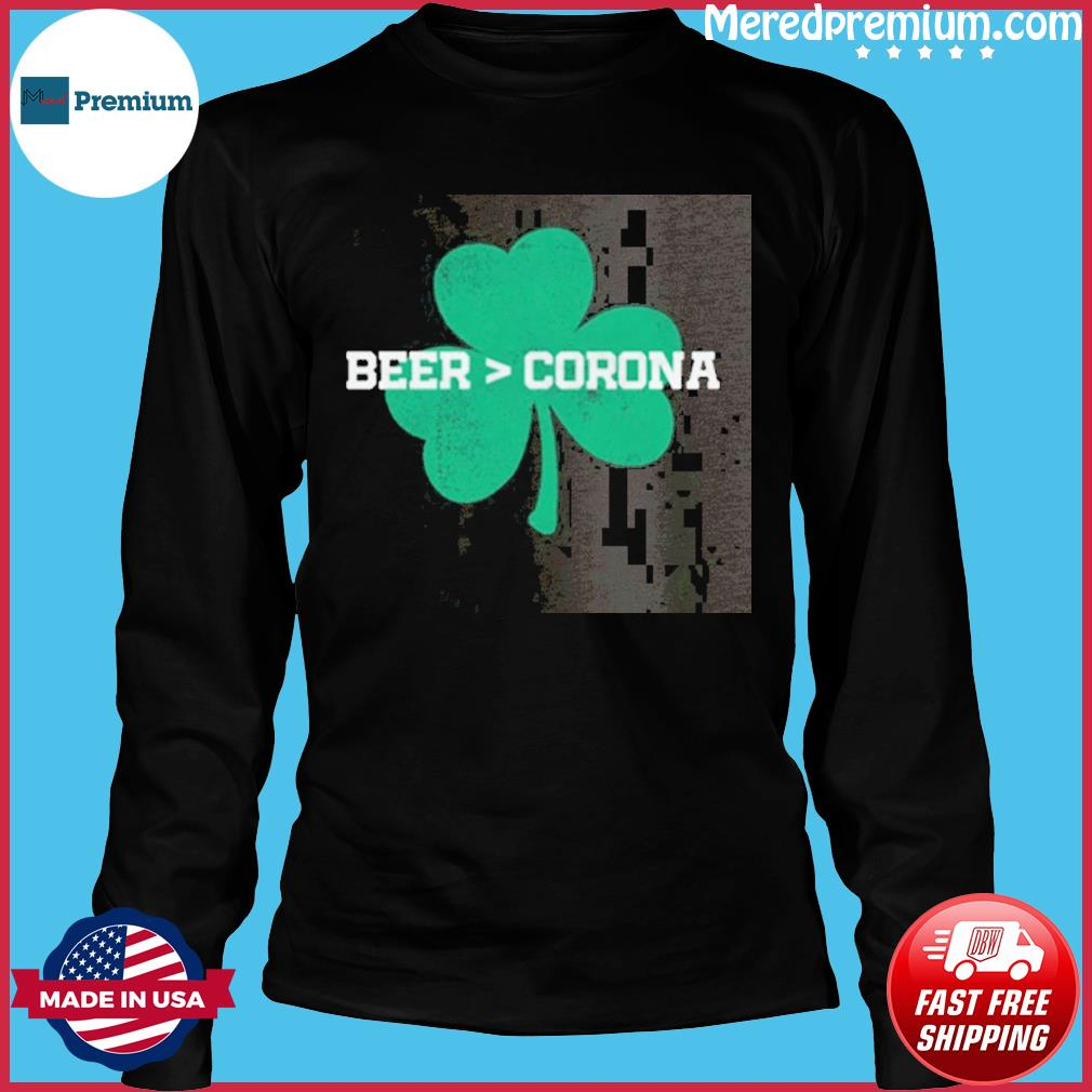 Beer Corona Saint Patrick's Day T-Shirt Long Sleeve