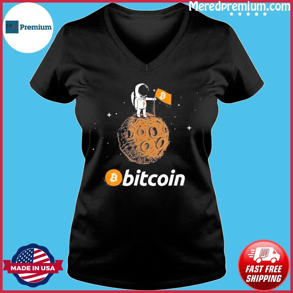 Bitcoin BTC Of Moon Shirt Ladies V-neck