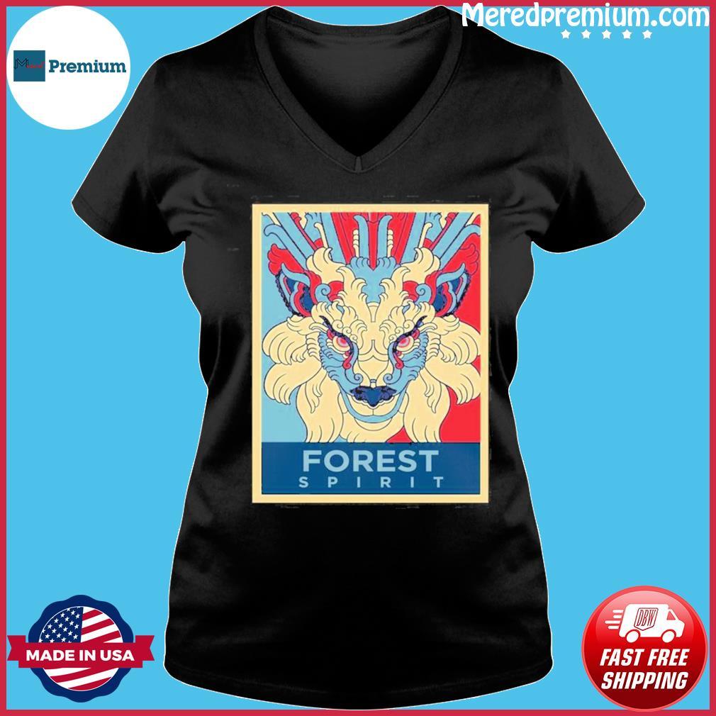 Forest Spirit Mononoke Hime Classic Shirt Ladies V-neck
