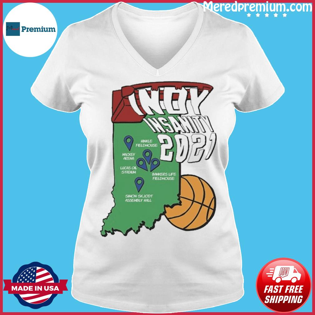 Indyinsanity 2021 Basketball T-s Ladies V-neck