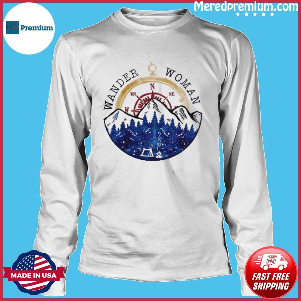 Oficial Wander Woman Hiking Camping Lover Shirt Long Sleeve