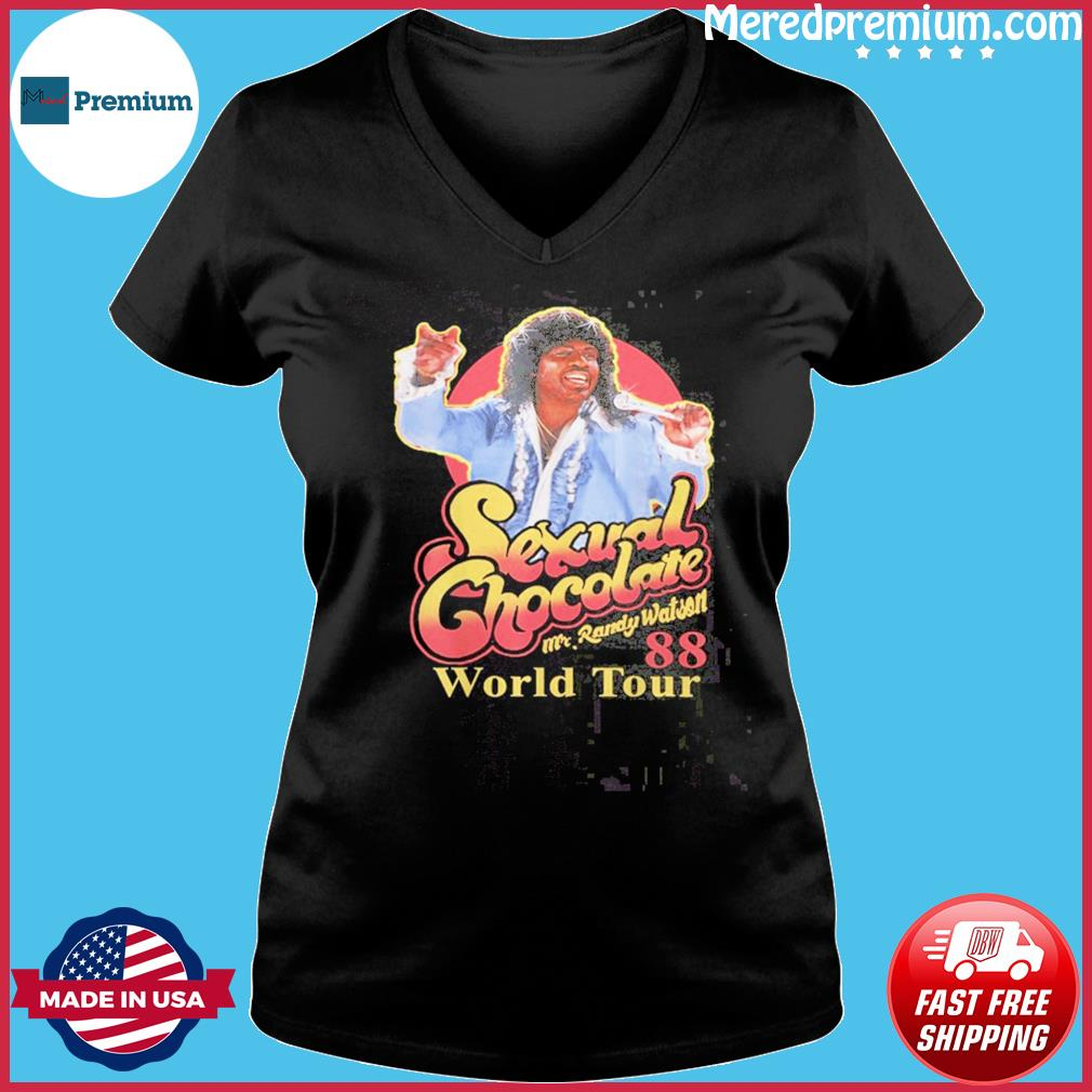 Sexual Chocolate Mr Randy Watson World Tour 88 T-Shirt Ladies V-neck