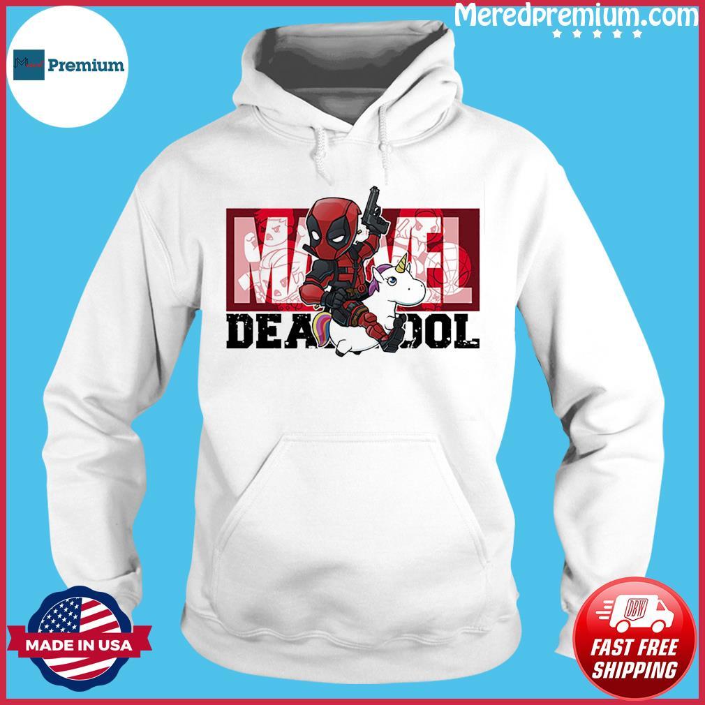 The Marvel Deadpool Riding Unicorn Shirt Hoodie