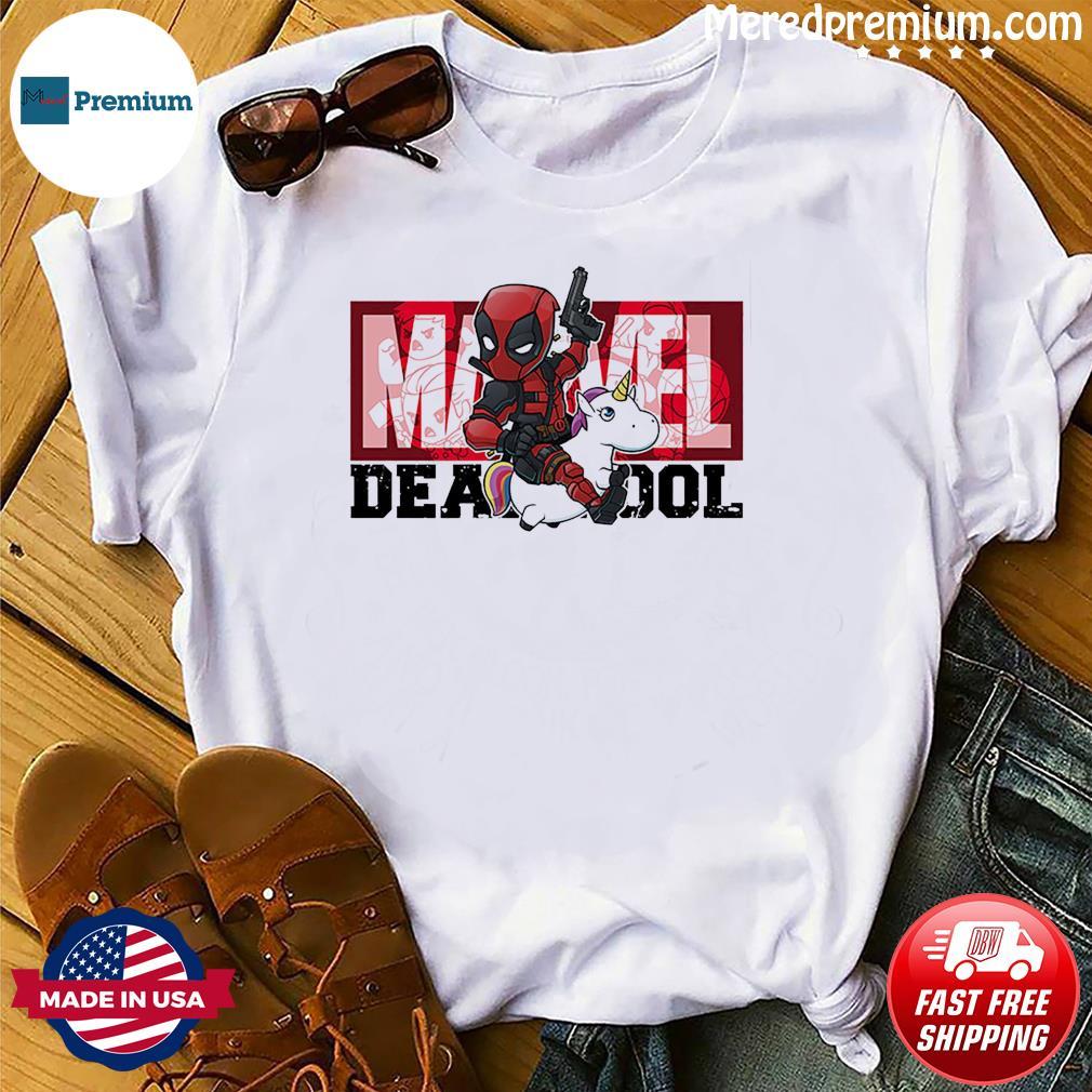 The Marvel Deadpool Riding Unicorn Shirt