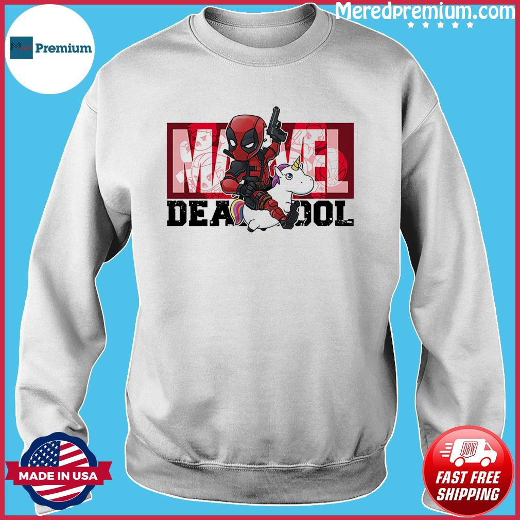 The Marvel Deadpool Riding Unicorn Shirt Sweater