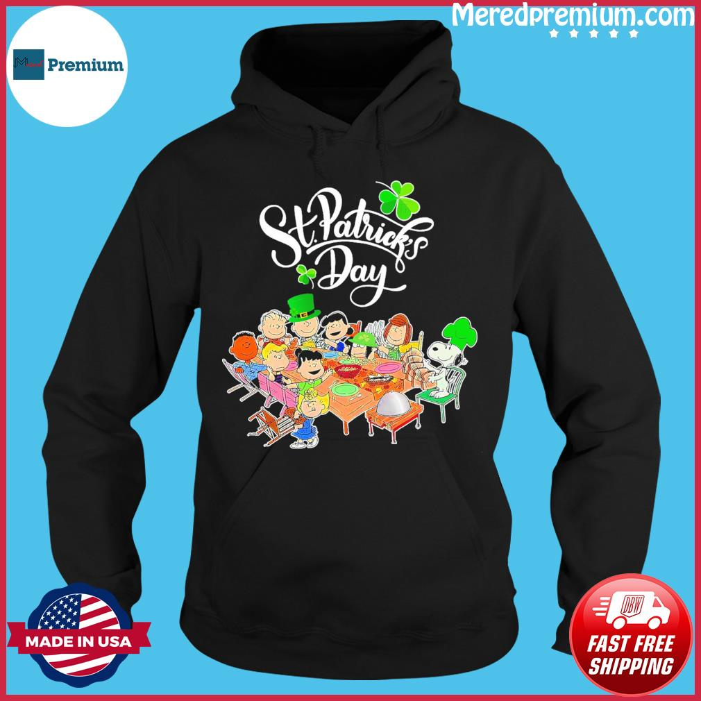 Snoopy Charlie Brown And Friends Party Happy St Patrick's Day 2021 Shirt Hoodie
