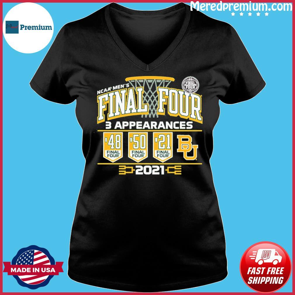 Baylor Bears 2021 NCAA Men's Basketball Final Four With 3 Appearances 1948 1950 2021 Shirt Ladies V-neck