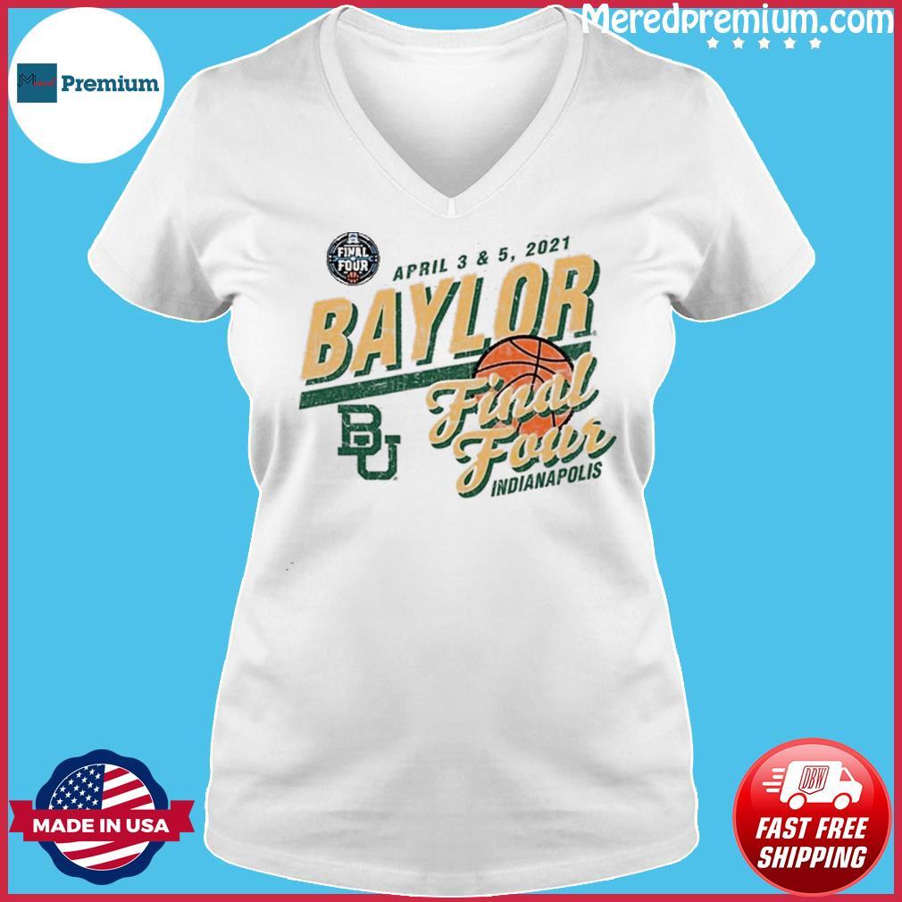 Baylor Bears Basketball Final Four Indianapolis Apr 2021 Shirt Ladies V-neck