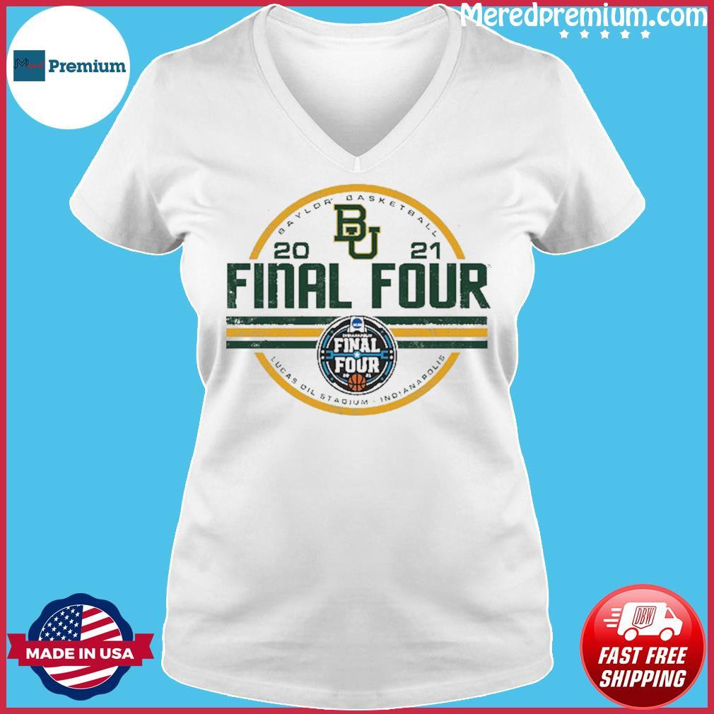 Baylor Bears BU With Baylor Basketball 2021 Final Four Shirt Ladies V-neck