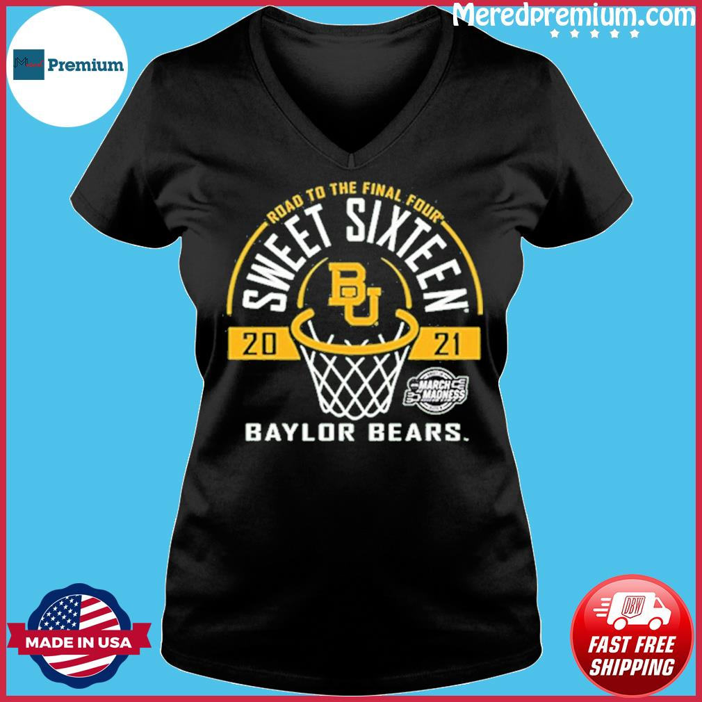 Baylor Bears Green Road To The Final Four 2021 Sweet Sixteen Shirt Ladies V-neck