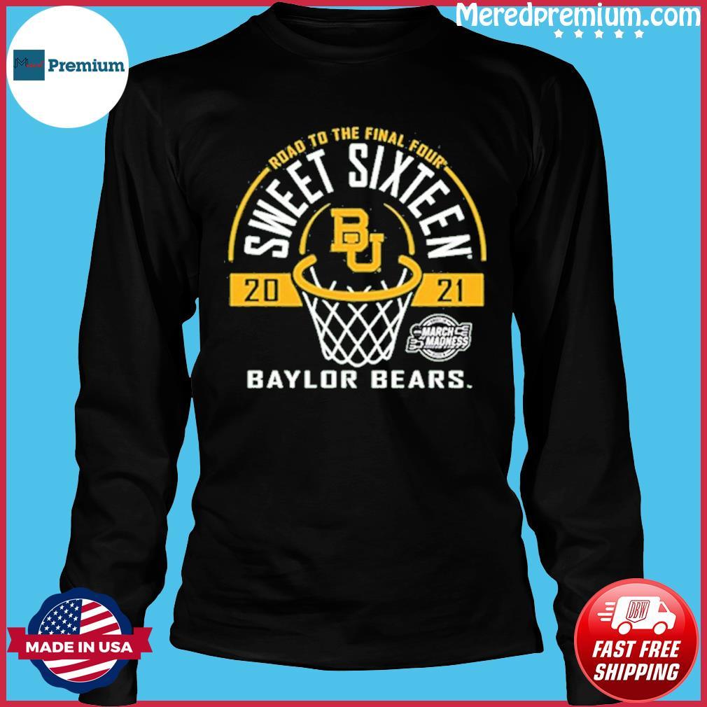 Baylor Bears Green Road To The Final Four 2021 Sweet Sixteen Shirt Long Sleeve