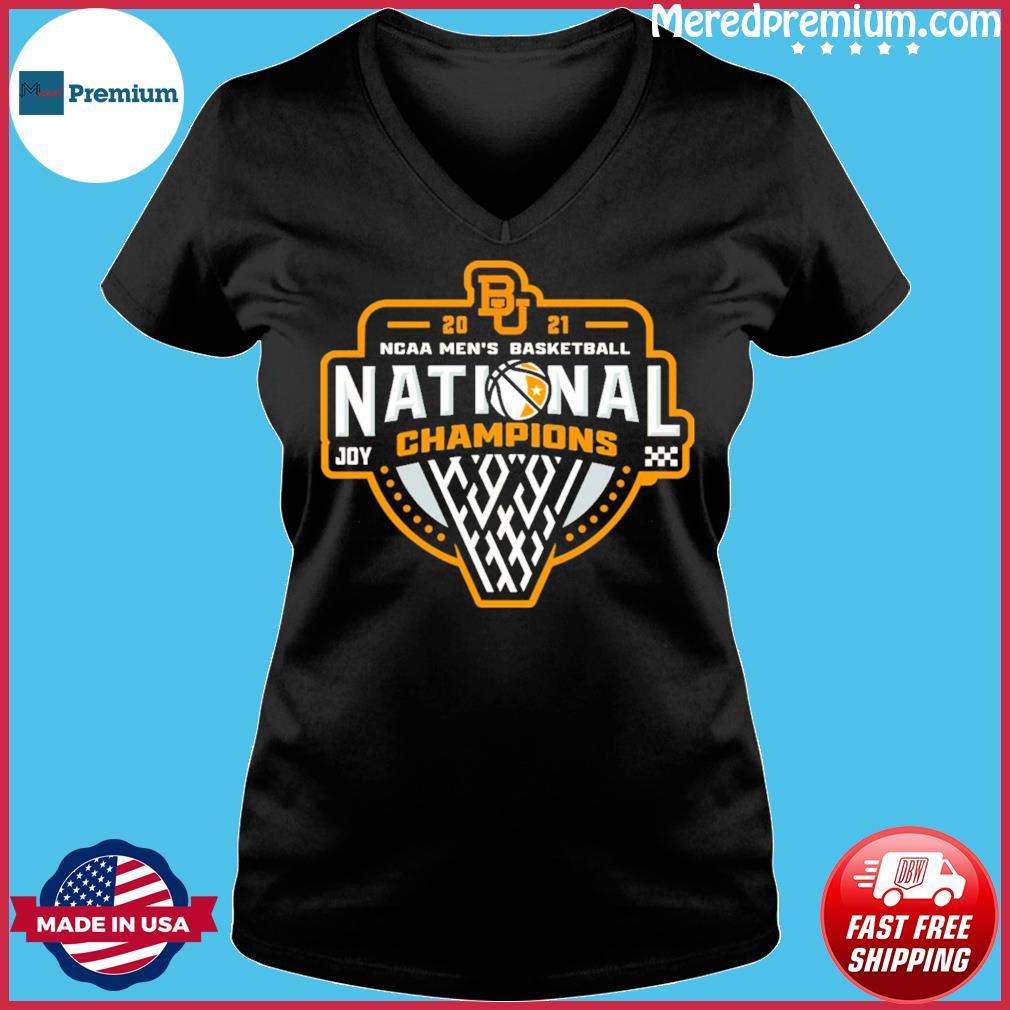 Official BU Baylor Bears 2021 NCAA Men's Basketball Joy Champions Shirt Ladies V-neck