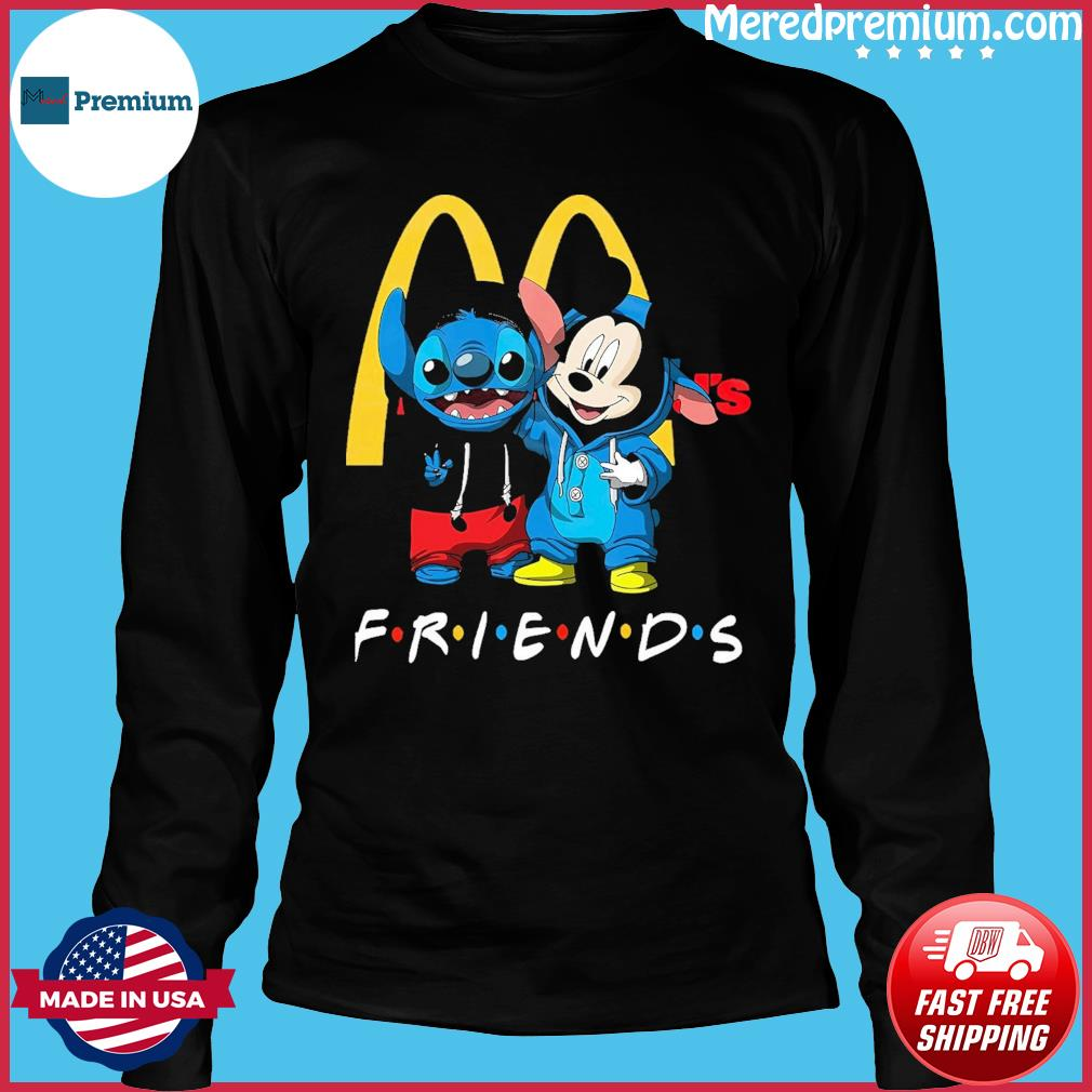 Baby stitch and mickey mouse friends mcdonalds logo s Long Sleeve