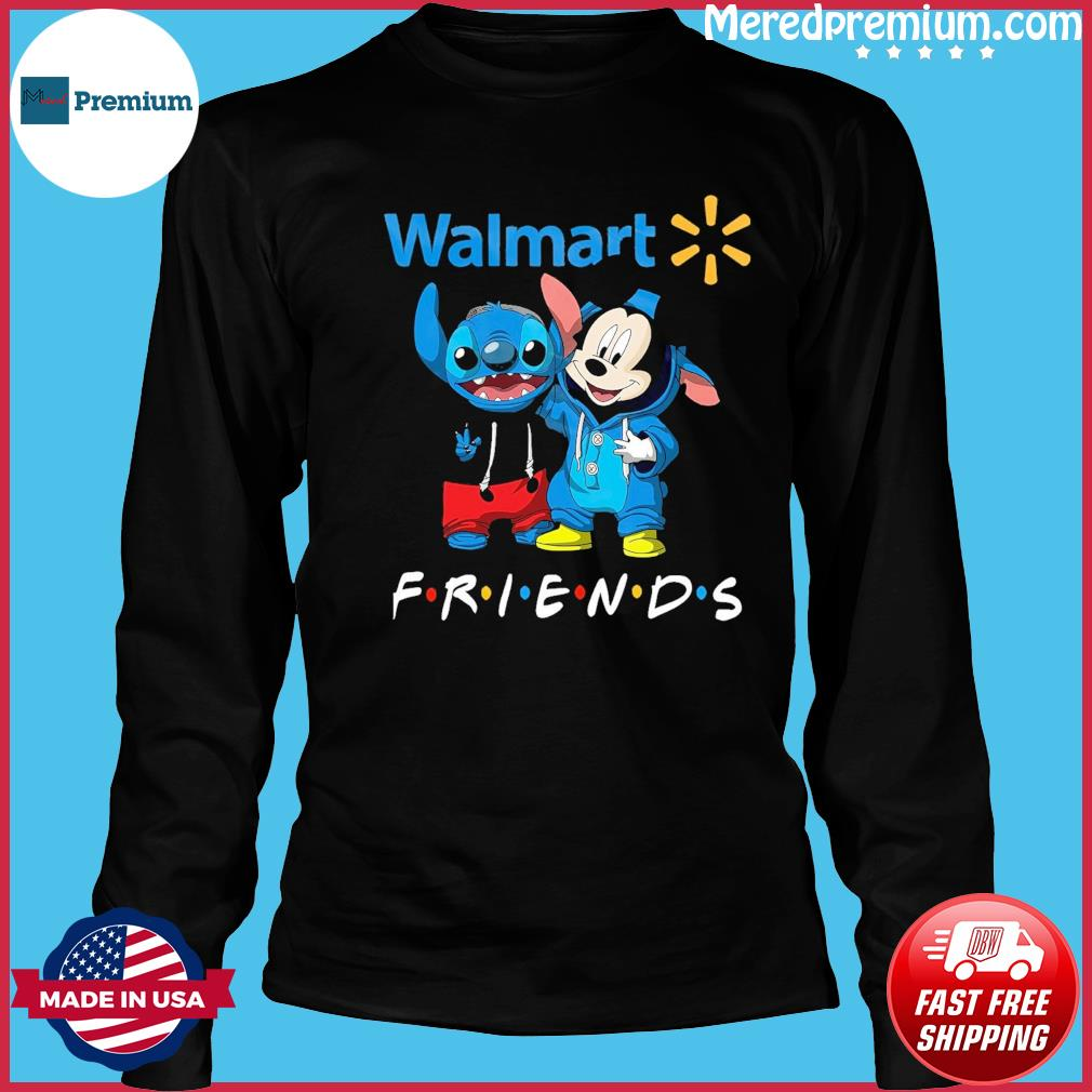 Baby stitch and mickey mouse friends walmart logo s Long Sleeve
