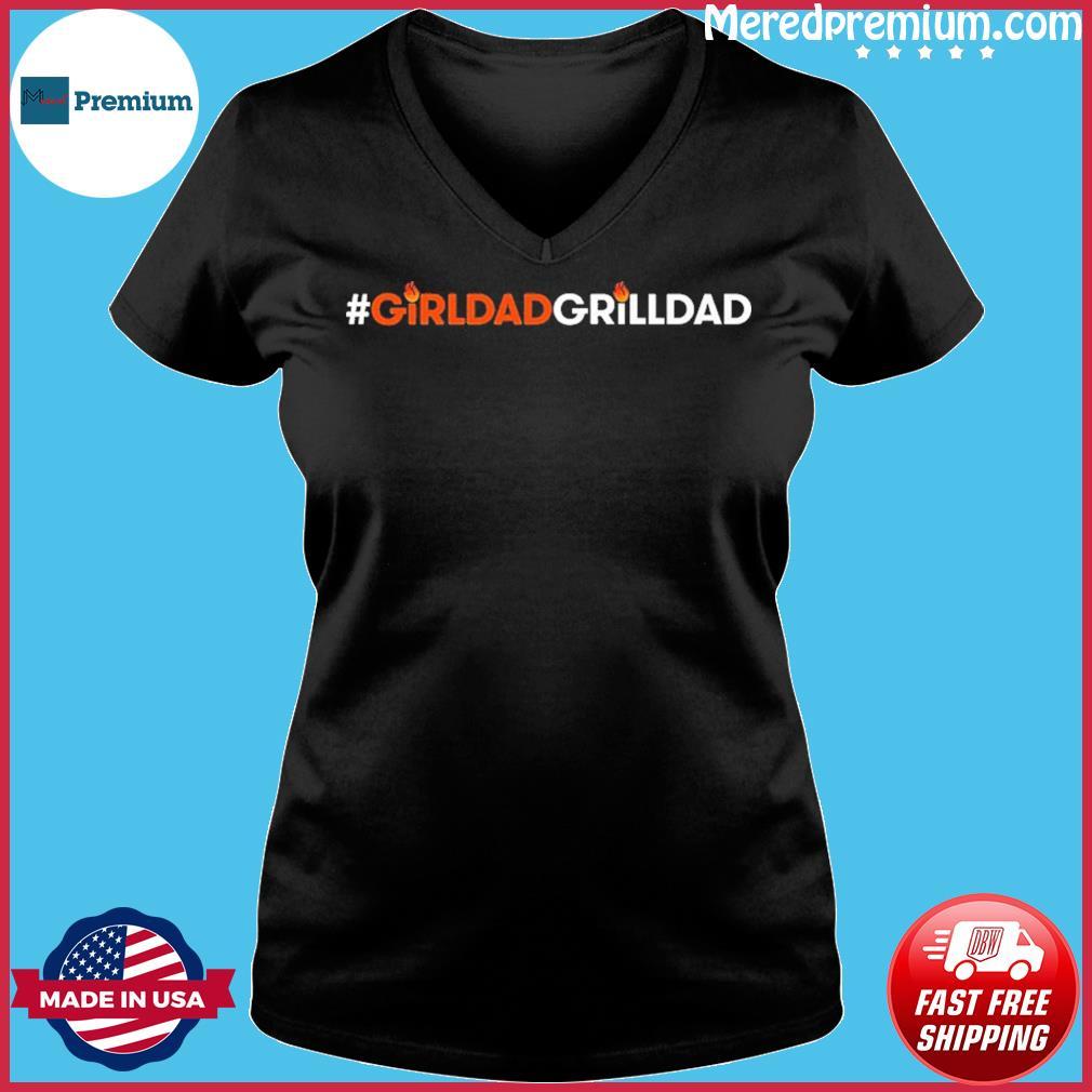 Girl Dad Grill Dad Shirt Ladies V-neck