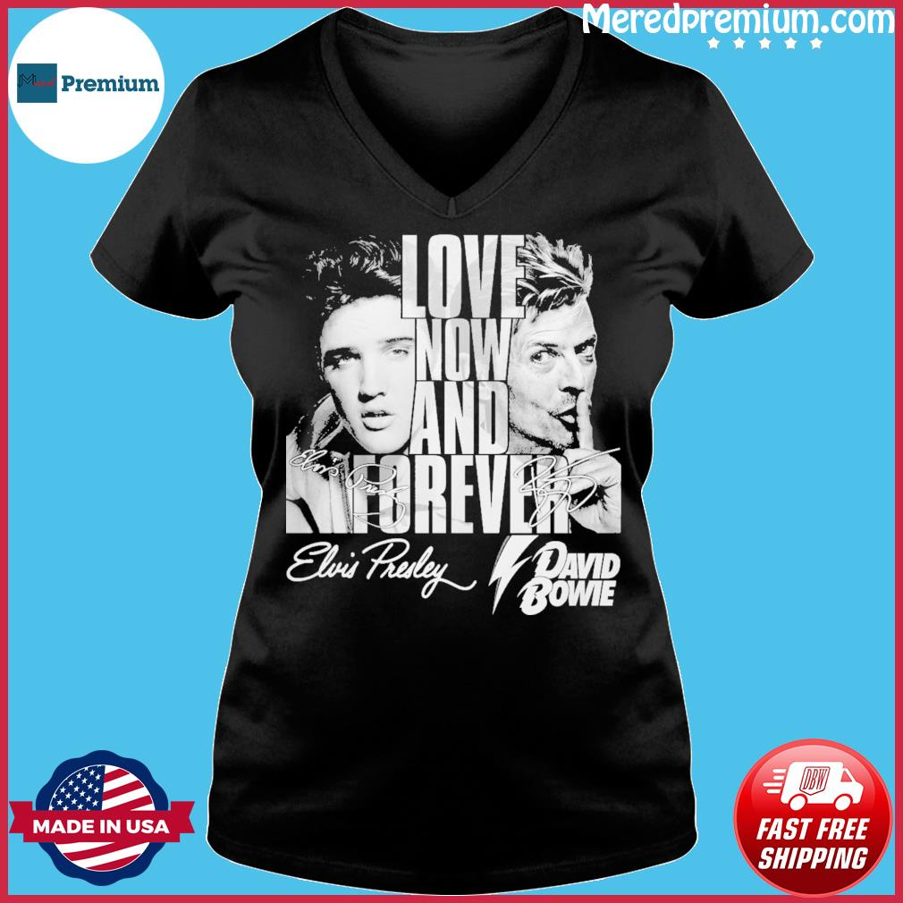Love now and forever david bowie s Ladies V-neck