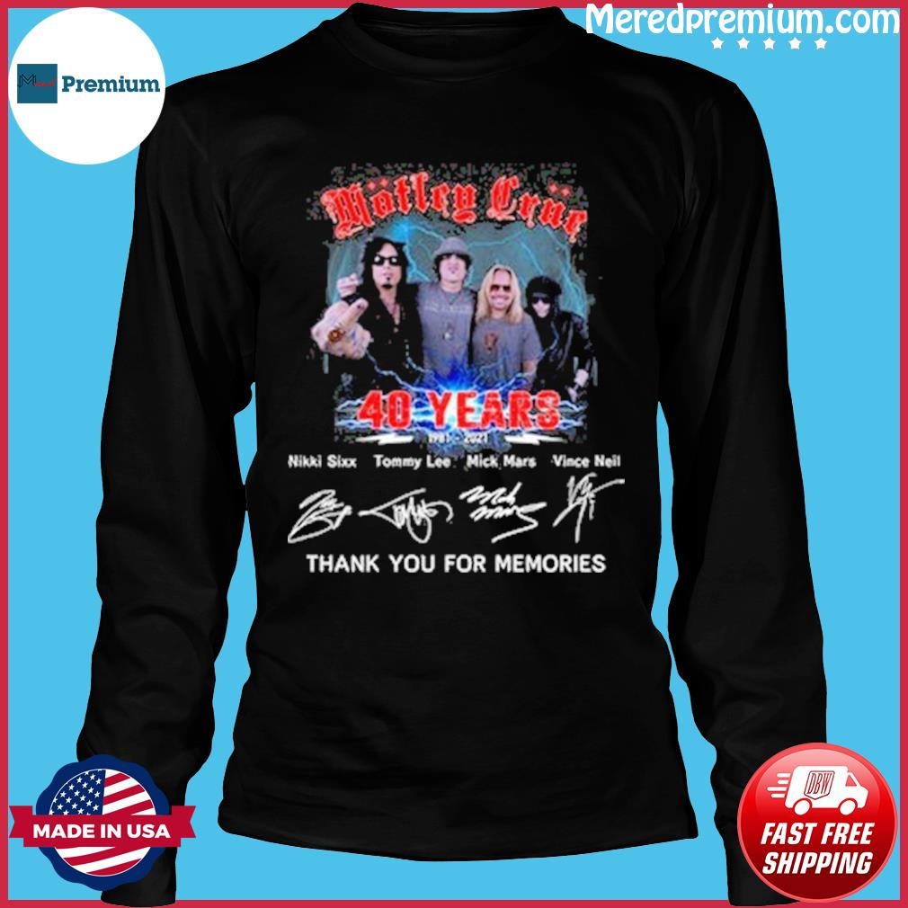 Motley crue 40 years thank you for the memories s Long Sleeve
