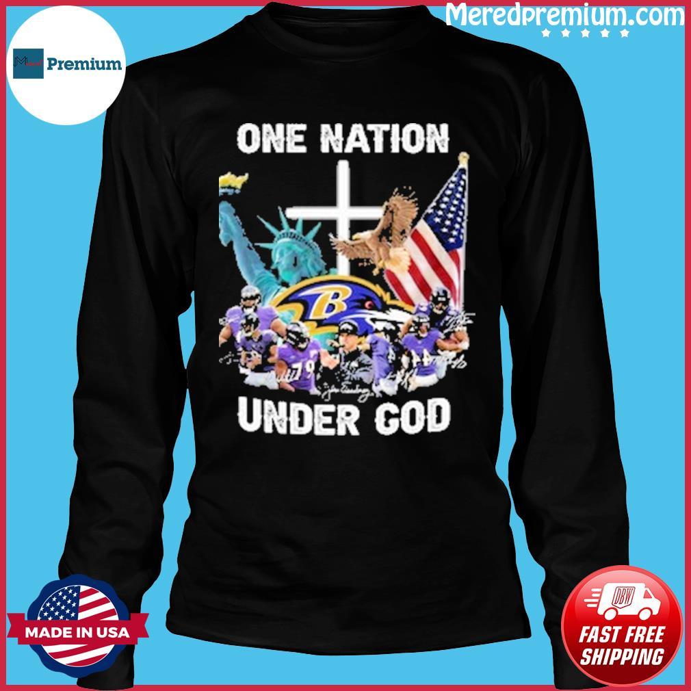 Nfl baltimore ravens teams one nation under god s Long Sleeve