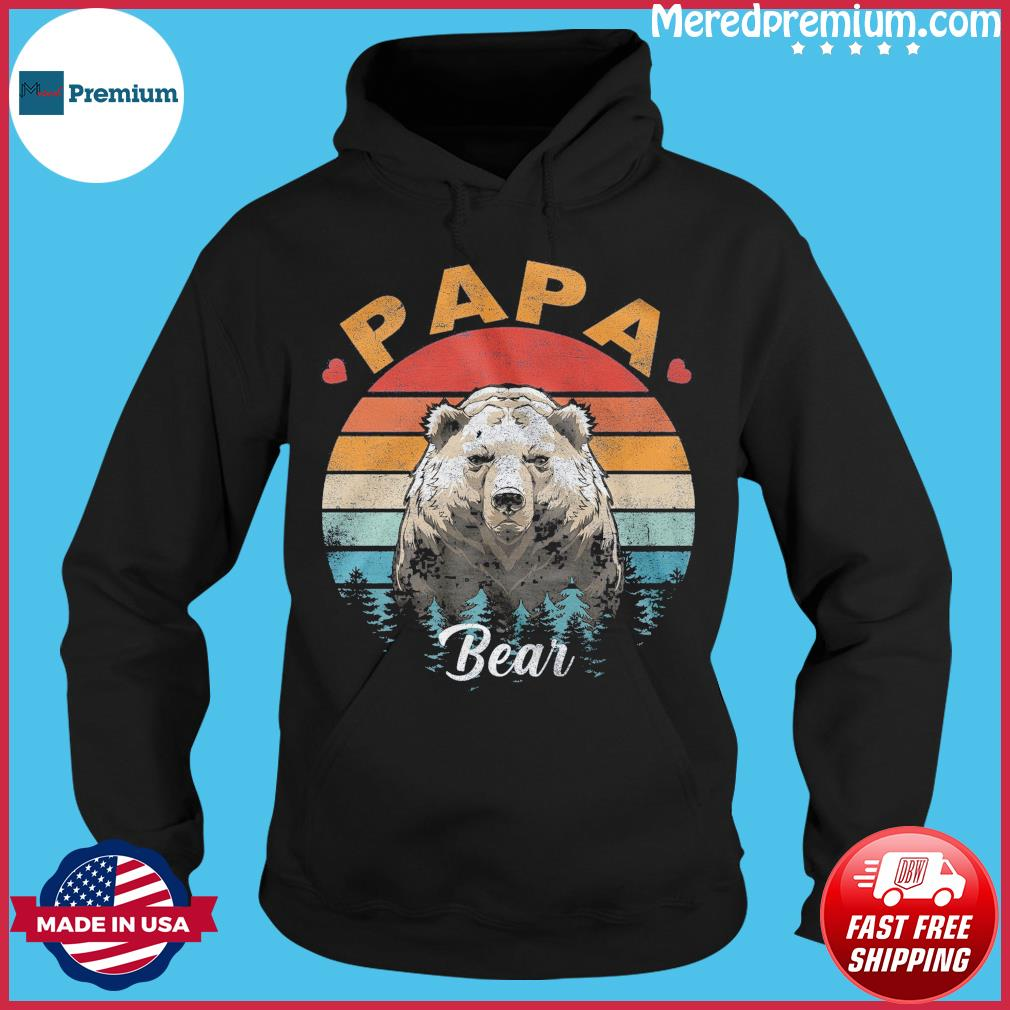 Official Papa Bear Vintage - Happy Father's Day 2021 Shirt Hoodie