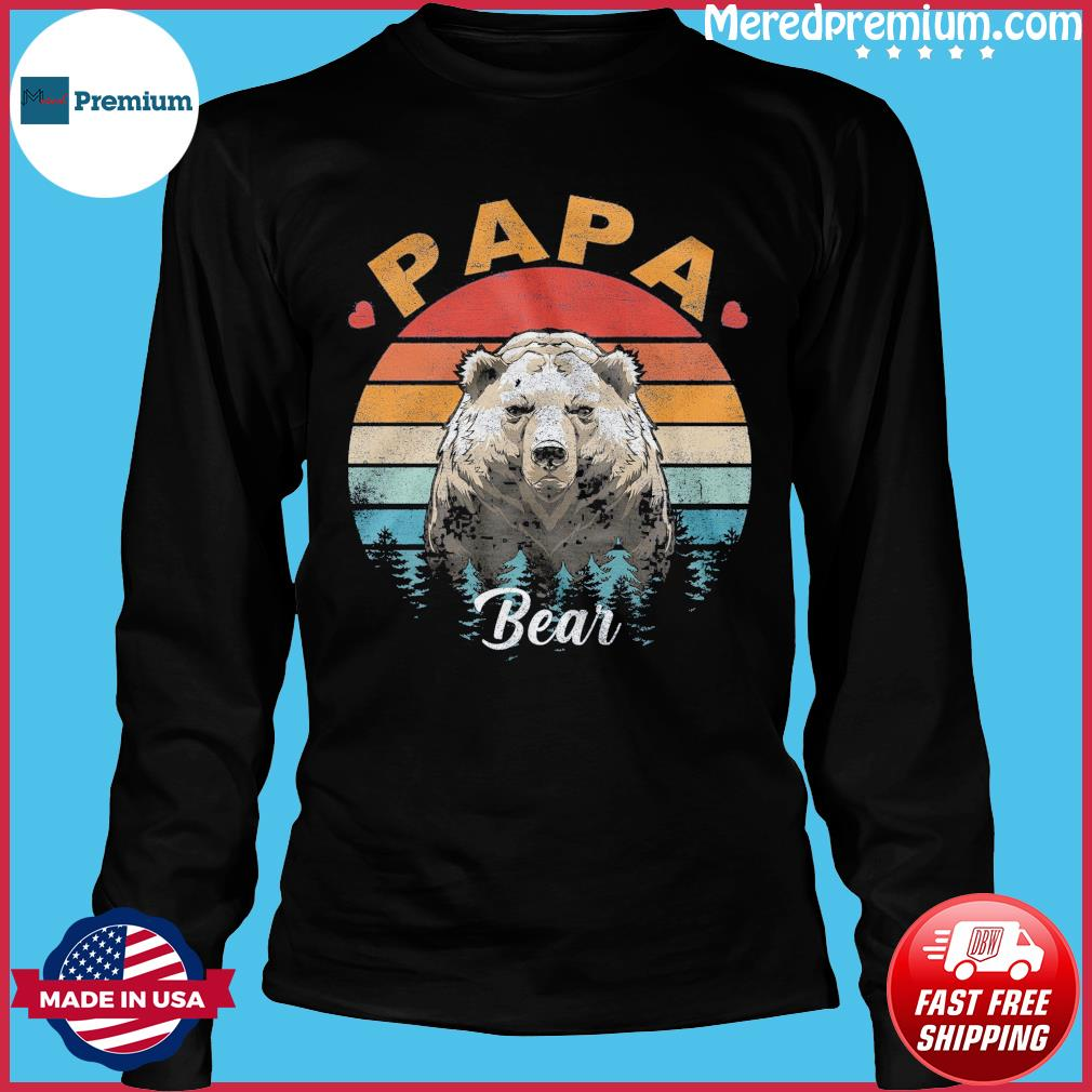 Official Papa Bear Vintage - Happy Father's Day 2021 Shirt Long Sleeve