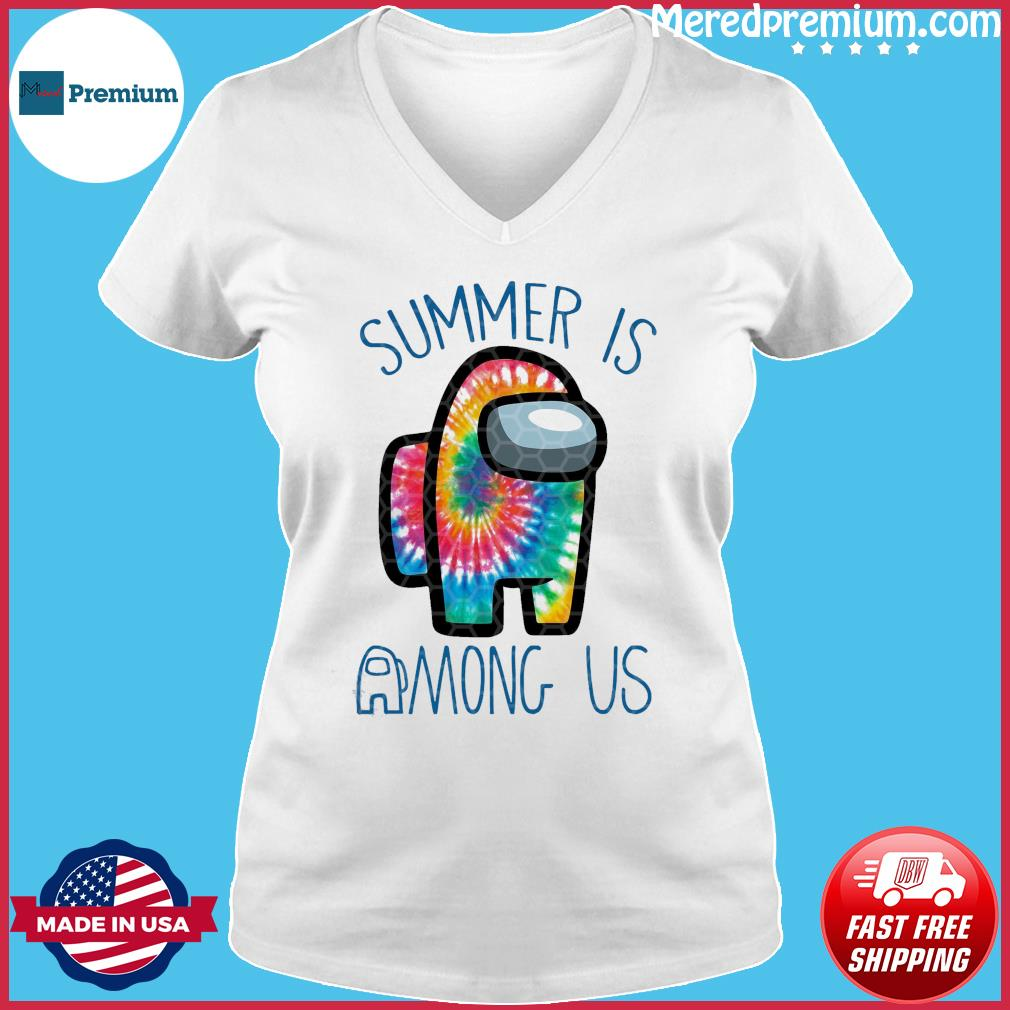 Official Summer Is Among Us - Among Us Impostor Art Color Shirt Ladies V-neck