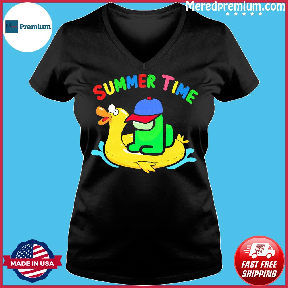 Official Summer Time With Among Us 2021 Shirt Ladies V-neck