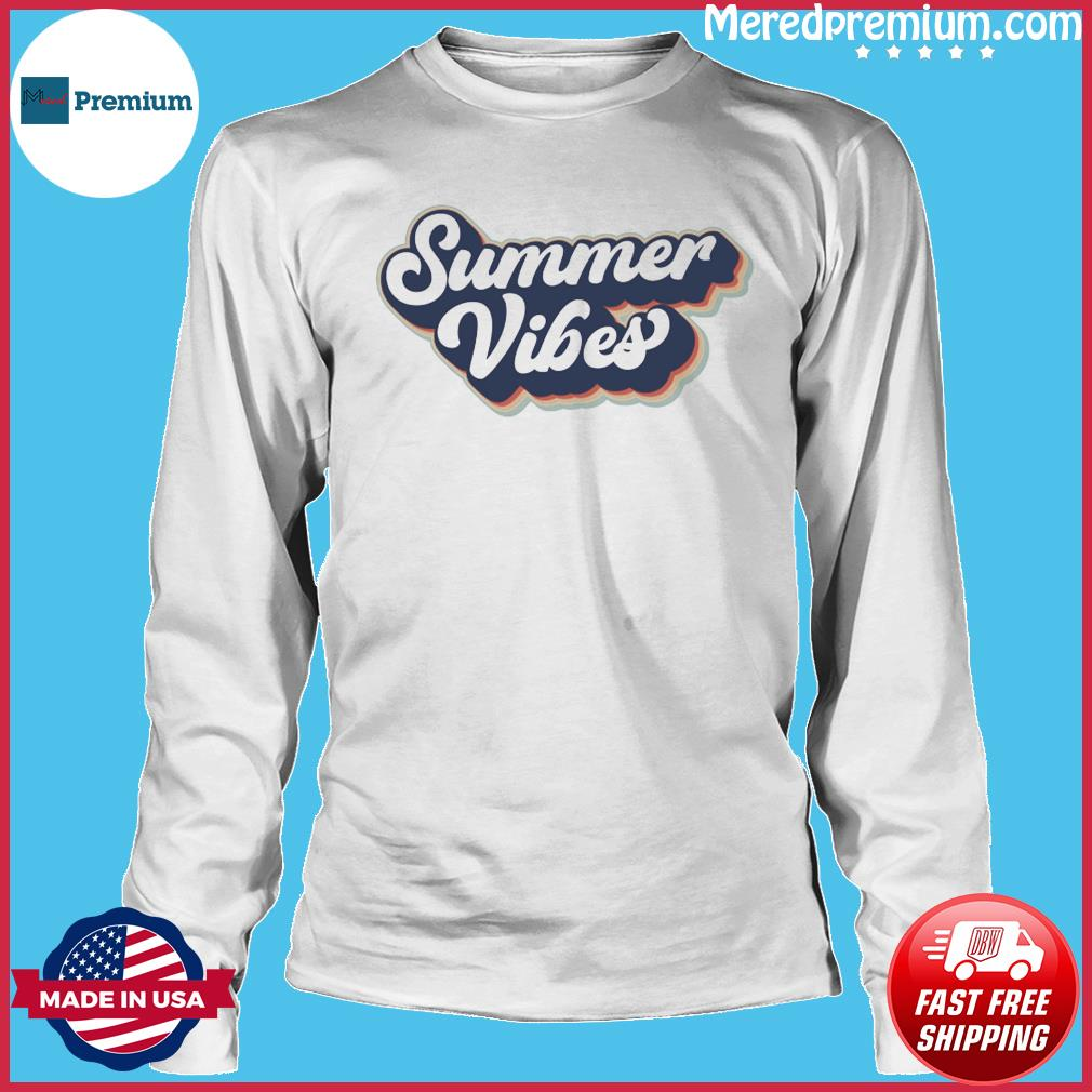 Official Vintage Summer Vibes - Hello Summer 2021 Shirt Long Sleeve