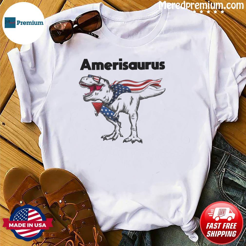 Dinosaur Amerisaurus 4th Of July 2021 Shirt