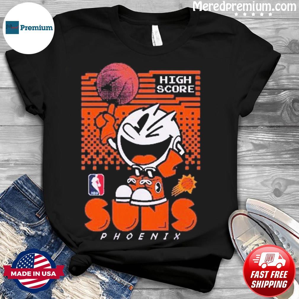 Junk Food Purple Phoenix Suns NBA x Pac Man High Score Shirt