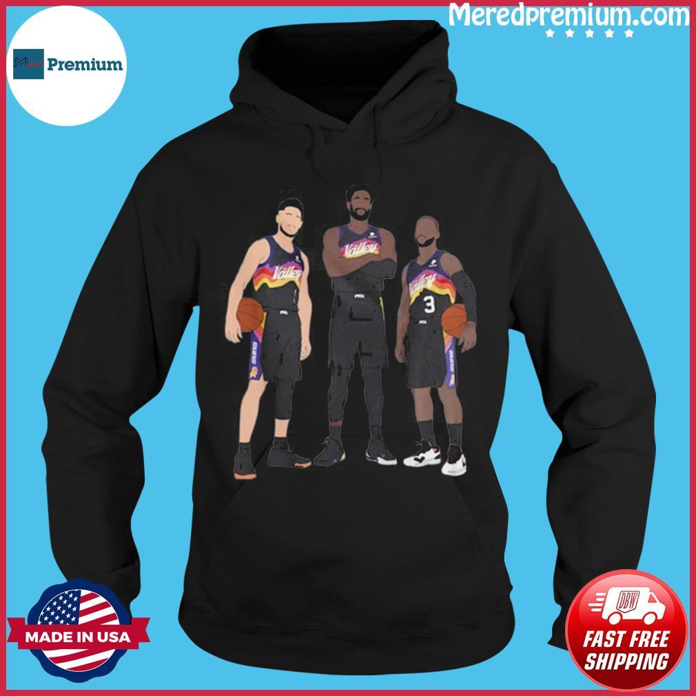 NBA Phoenix Suns Basketball Team Devin Booker Chris Paul Deandre Ayton s Hoodie