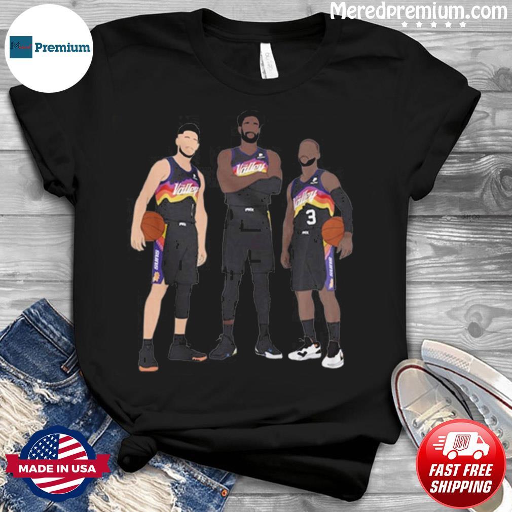 NBA Phoenix Suns Basketball Team Devin Booker Chris Paul Deandre Ayton shirt