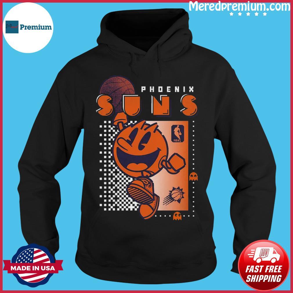 Official Junk Food Black Phoenix Suns Pac Man Fast Break Shirt Hoodie