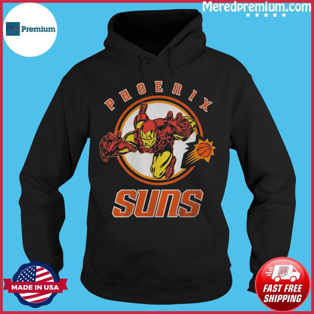 Official Junk Food Phoenix Suns NBA x Marvel Shirt Hoodie