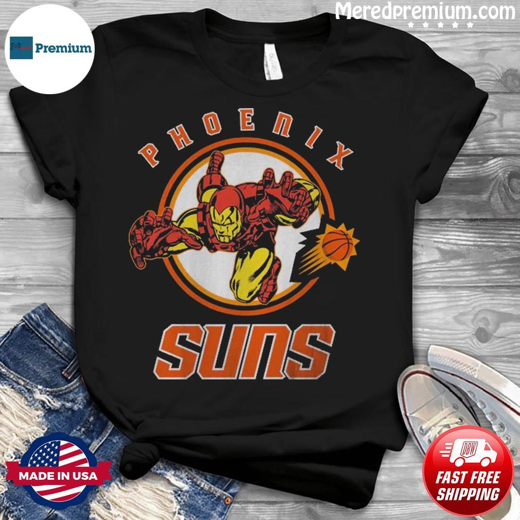Official Junk Food Phoenix Suns NBA x Marvel Shirt