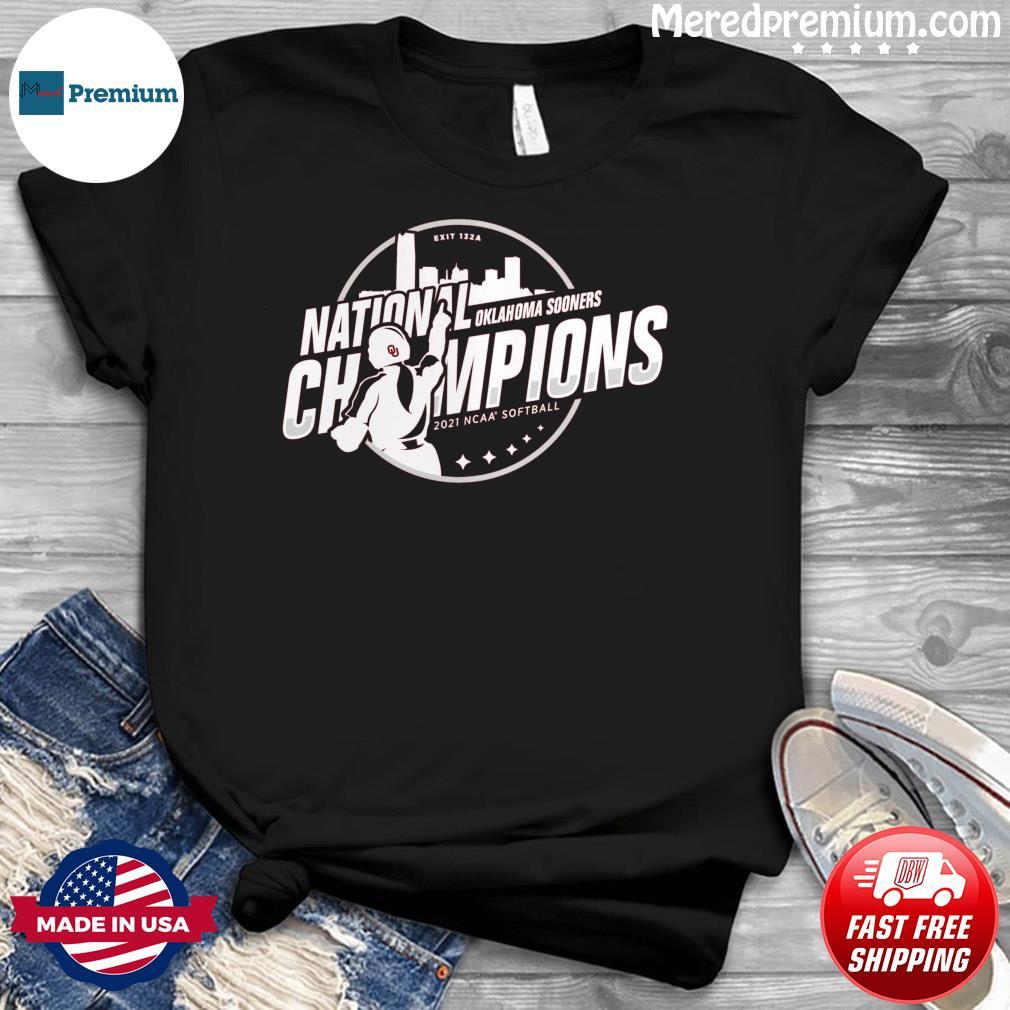 Oklahoma Sooners National Champions 2021 NCAA Softball Women's College World Series Champions Steal T-Shirt