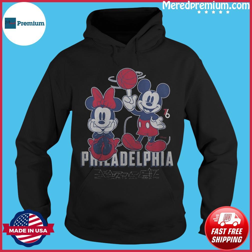 Philadelphia 76ers Junk Food Disney Mickey & Minnie 2020 2021 City Edition T-Shirt Hoodie