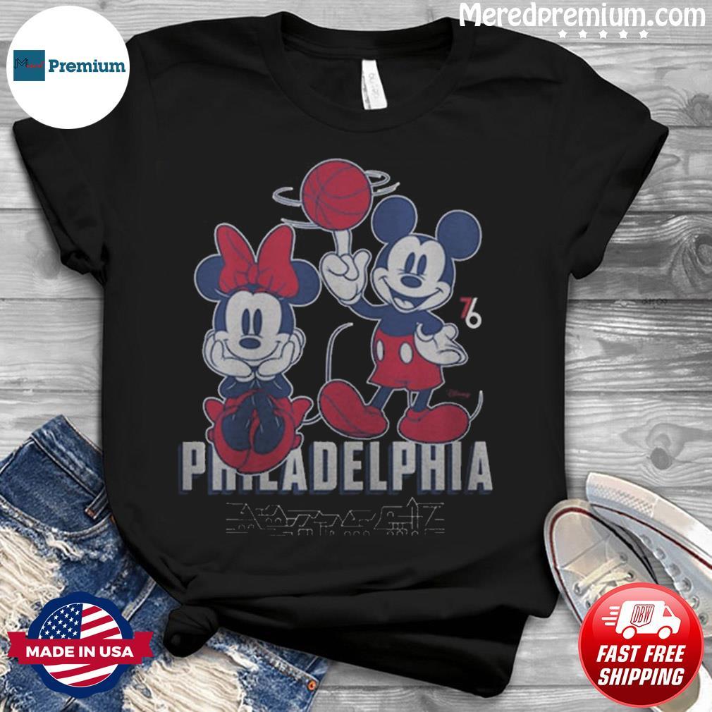 Philadelphia 76ers Junk Food Disney Mickey & Minnie 2020 2021 City Edition T-Shirt