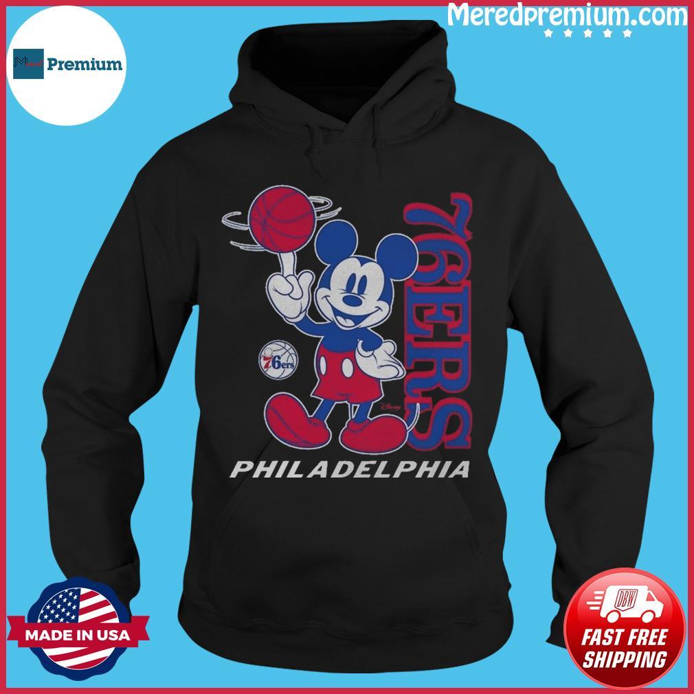 Philadelphia 76ers Junk Food Disney Vintage Mickey Mouse Baller T-Shirt Hoodie