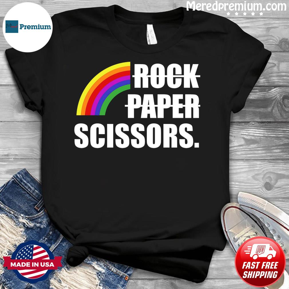 Rock Paper Scissors LGBT Rainbow Shirt