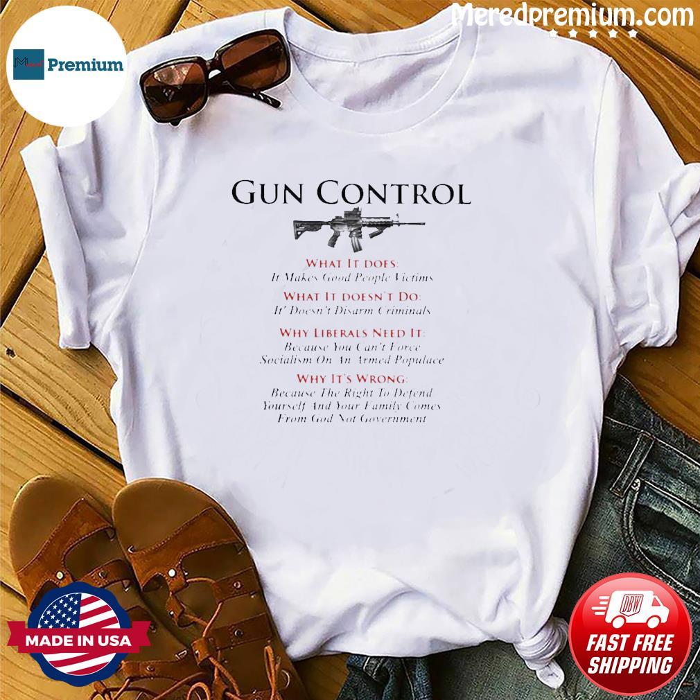 American Gun Flag Gun Control T-Shirt