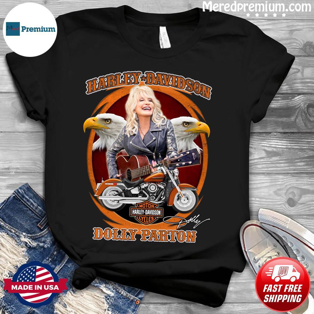 Motor Harley Davidson Cycles Dolly Parton Signature Shirt