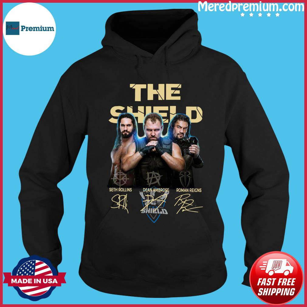 The Shield Seth Rollins Dean Ambrose Roman Reigns Signatures Shirt Hoodie