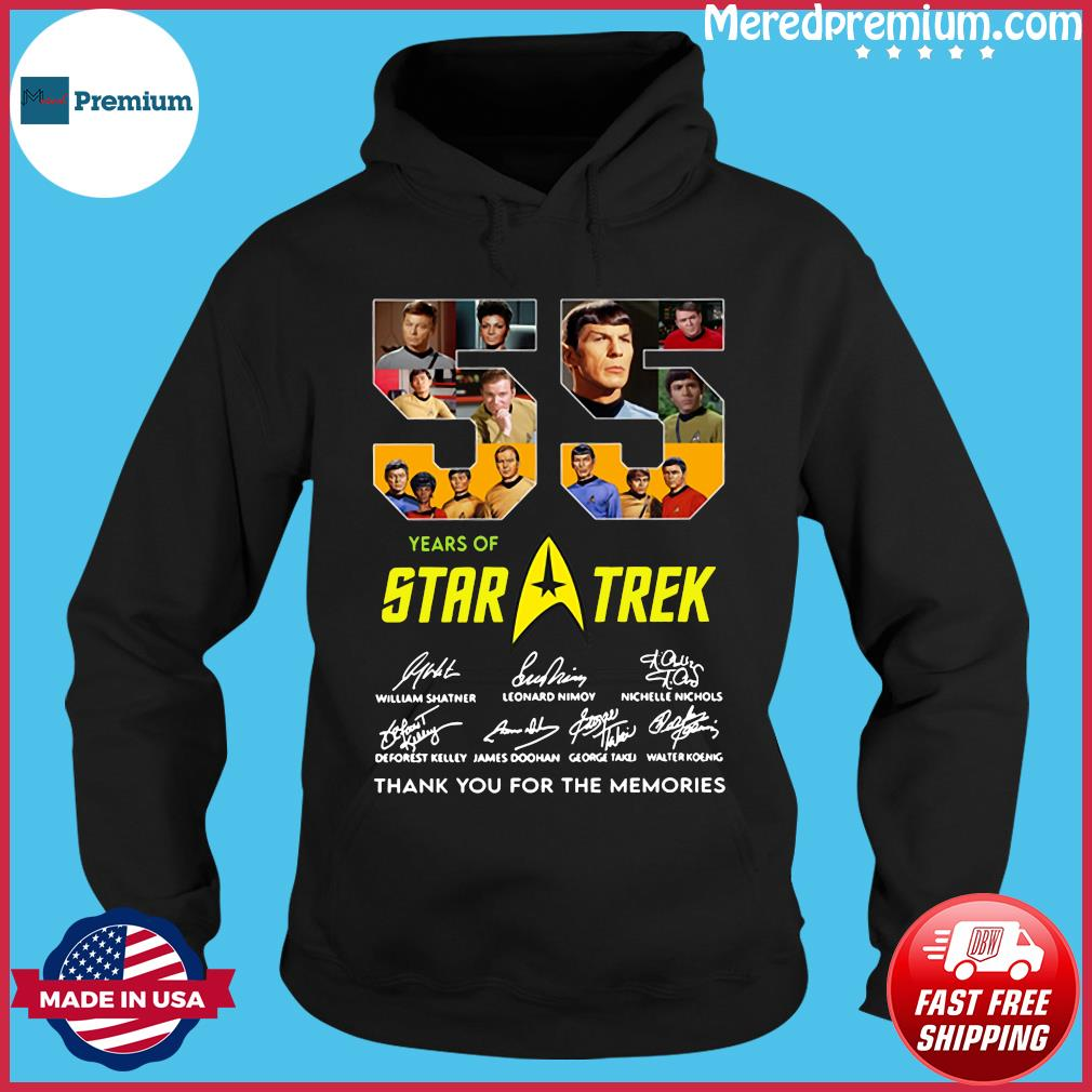 55 Years Of Star Trek Thank You For The Memories Signatures Shirt Hoodie