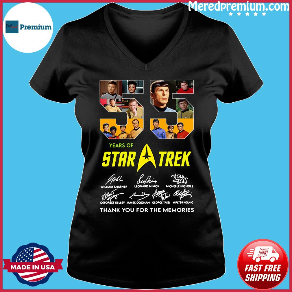 55 Years Of Star Trek Thank You For The Memories Signatures Shirt Ladies V-neck