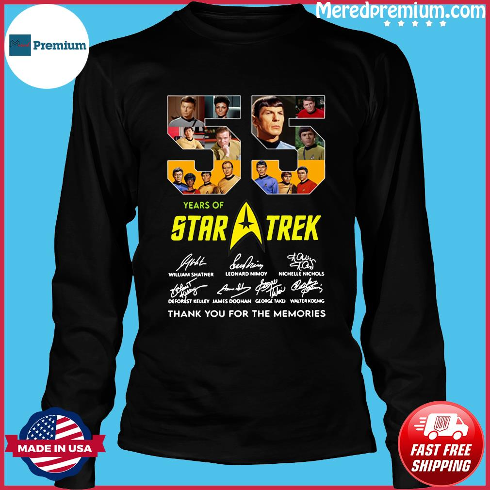 55 Years Of Star Trek Thank You For The Memories Signatures Shirt Long Sleeve