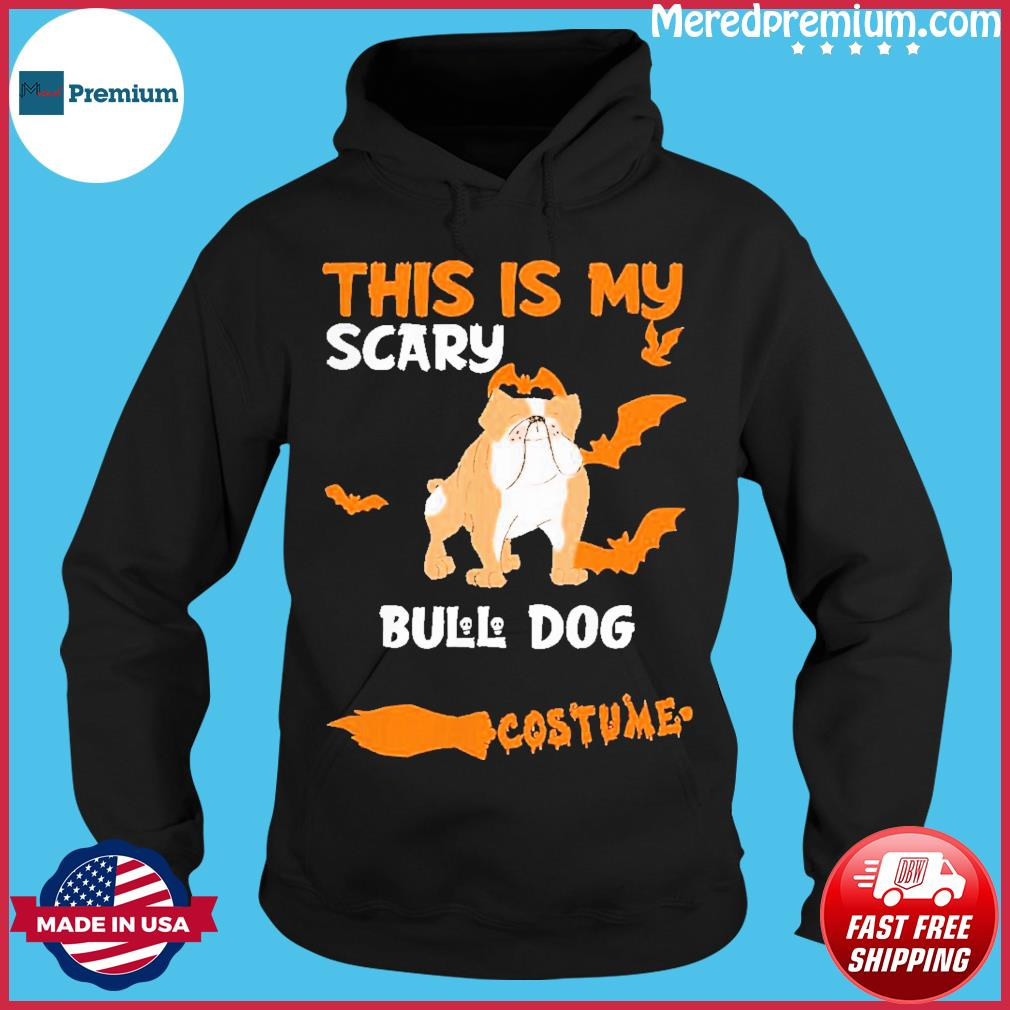 Bull Dog Brown Costume Halloween Lazy Scary Dog Shirt Hoodie