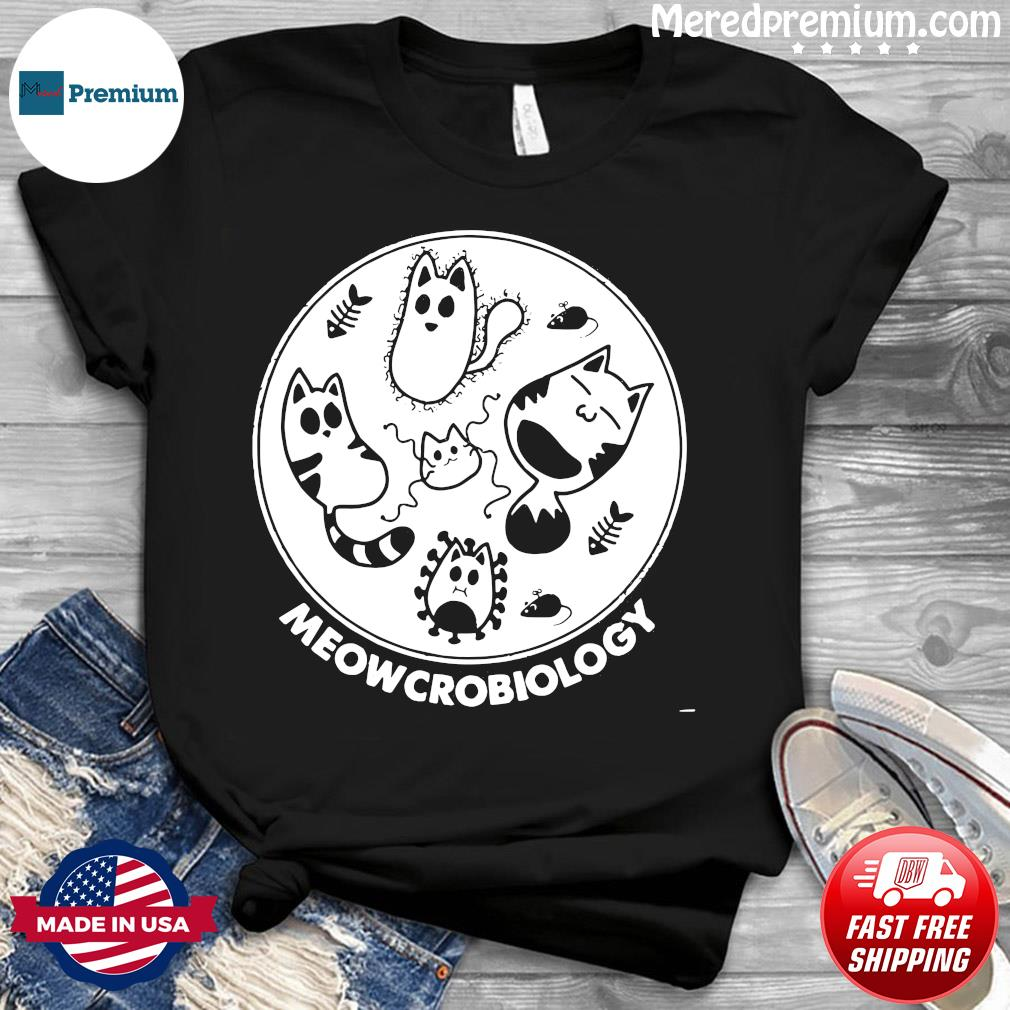 Cat Meowcrobiology Microbiology mouse fishbone shirt