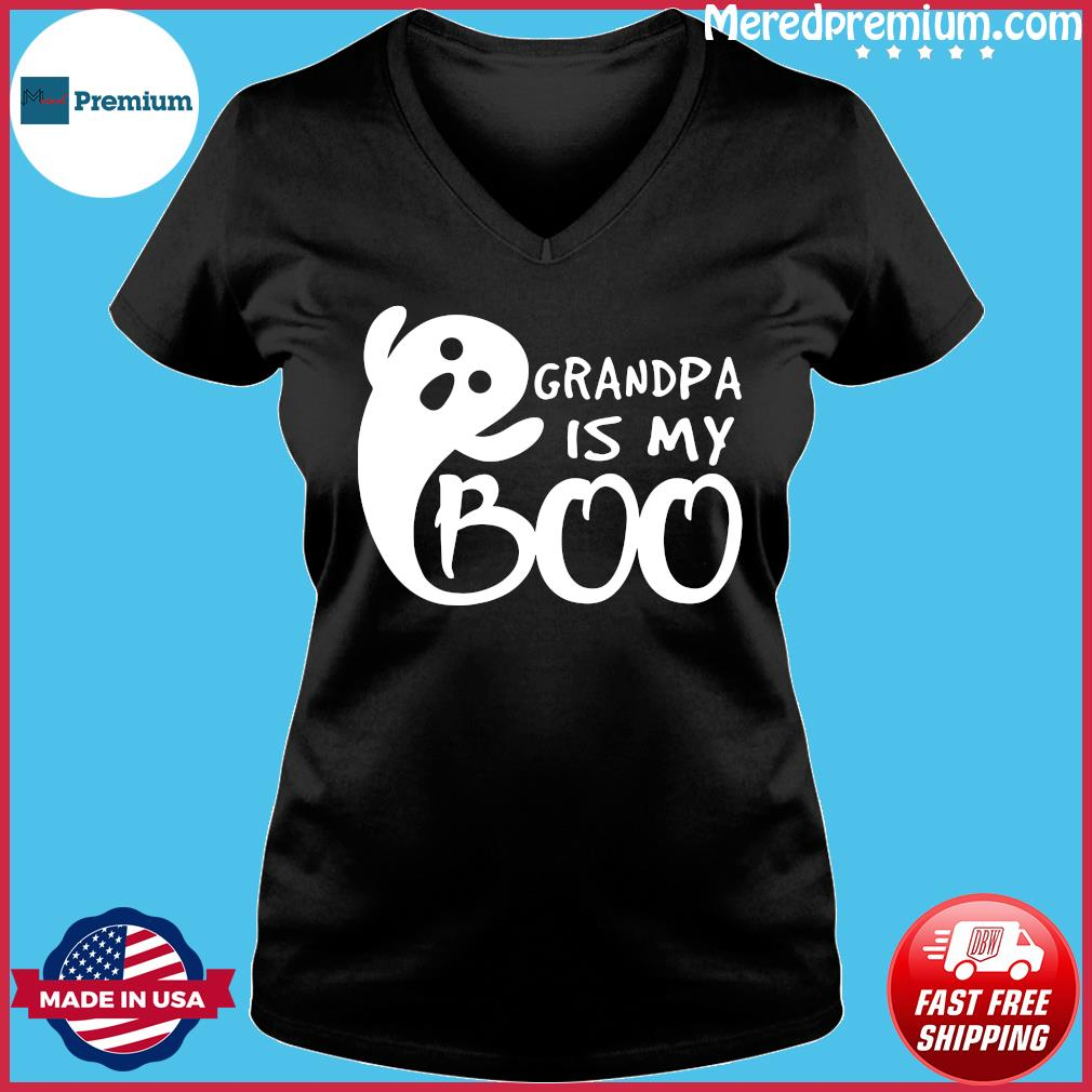 Grandpa Is My Boo Shirt Ladies V-neck